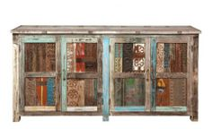 Rustic Furniture | Print Block Cabinet | Cierra Interiors