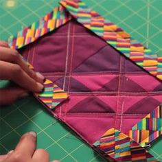 Once you've finished your quilt top and have quilted the layers together, you're ready to add the quilt binding. Here are a few quilt binding tips.