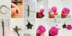 Tesbih Ucu Gül Yapılışı Needle Lace, Crochet Necklace, Creations, Jewelry, Lace, Tricot, Craft, Templates, Flowers