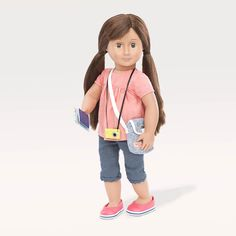 Reese with Book Our Generation 18-inch Deluxe Doll