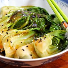 Bok choy stir-fry with ginger and garlic