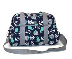Hey, I found this really awesome Etsy listing at https://www.etsy.com/listing/280363564/nautical-diaper-bag-whale-diaper-bag