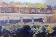 Cantileverd Highway, Encaustic by Dale Roberts