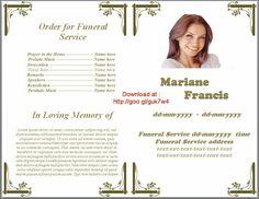 Free Funeral Program Template | Program template