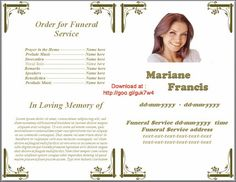 Sample Funeral Program Microsoft Office Word Catholic Order Of Service Template Memorial
