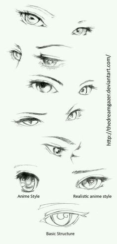 Manga Drawing Tips Eyes realistic anime style by TheDreamgazer - Drawing Techniques, Drawing Tips, Drawing Sketches, Art Drawings, Sketching, Drawing Ideas, Drawing Faces, Eye Sketch, Drawing Style