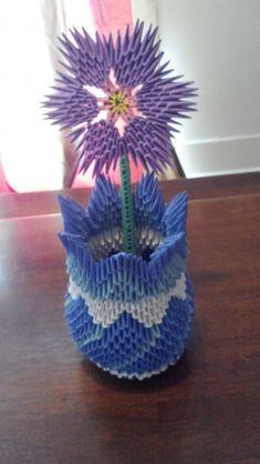Vase with a violet… | Album | kutiebabie237 | 3D Origami Art