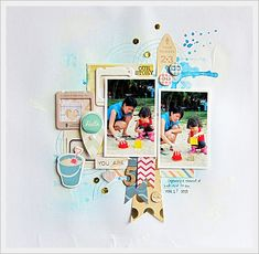 #papercraft #scrapbook #layout. The Pier by Crate Paper