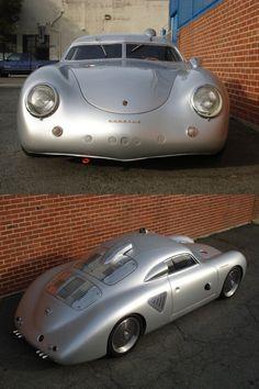 specialcar:  1955-porsche-356-silver-bullet