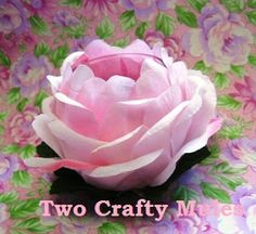 Two Crafty Mules: Shabby Chic Rose Votive Candle Holders Project from dollar store silk flowers