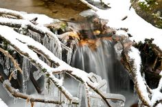The leaves of autumn wash away with the newly fallen snow of winter. Wildlife Nature, Rocky Mountain National Park, Rocky Mountains, Nature Photography, Colorado, Waterfall, National Parks, Landscape, Winter