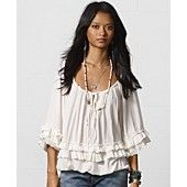 Denim & Supply Ralph Lauren Ruffled Peasant Top
