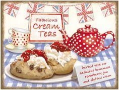Cream teas sign