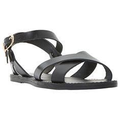 Buy Dune Laila Cross Vamp Leather Sandals Online at johnlewis.com