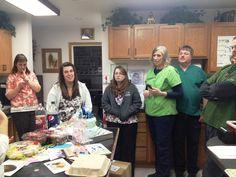 Dr. Everett and team enjoying her 60th birthday celebration #Sheree Everett #Everett Veterinary #Klamath Falls