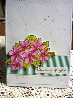 Thinking of You Distress Ink, Wood Blocks, Thinking Of You, Birthday Cards, Stamp, Colours, In This Moment, Floral, Flowers