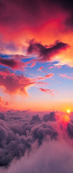 beautiful & colorful cloud formations!