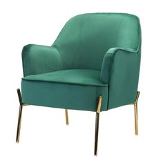 Green Accent Chair, Velvet Accent Chair, Accent Chairs, Velvet Chairs, Upholstered Dining Chairs, Dining Chair Set, Dining Table, Swivel Barrel Chair, Gold Interior