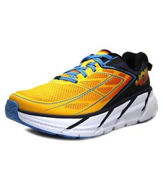HOKA ONE ONE Hoka One One Clifton 3 Men  Round Toe Synthetic Orange Tennis Shoe. #hokaoneone #shoes #