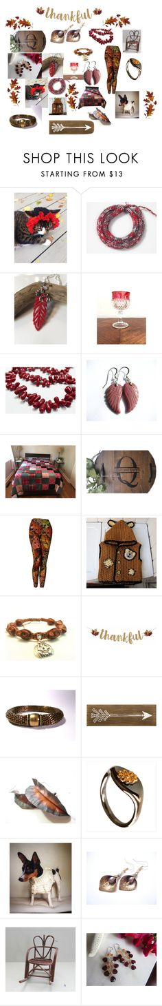 """""""Happy Thanksgiving!"""" by therusticpelican ❤ liked on Polyvore featuring Shamballa Jewels, modern, contemporary, rustic and vintage"""
