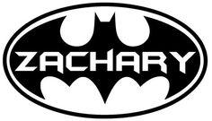 11 x 20 Personalized Batman Wall Sticker by PersonalizedJewellz, $15.00 AWESOME!
