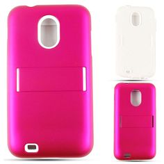 Unlimited Cellular Hybrid Fit On Jelly Case for Samsung Galaxy S2 Epic 4G D710 (Honey Hot Pink Leather Finish)