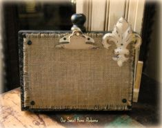 Rustic Burlap Wood Picture Frame Barn Wood by OurSweetHomeAlabama