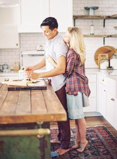 Kitchen Engagement Photo By Melissa Jill Photography