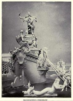MacMonnie's Fountain, World's Fair, Chicago IL 1893.