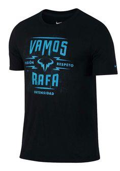 Nike Vamos Rafa Nadal Dri-FIT Tennis Shirt Mens M Black Gamma 882922 010 #Nike #ShirtsTops