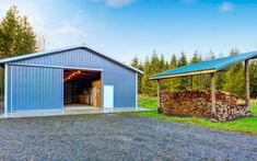 Find out whether a steel building system, pole barn, Quonset hut or modular building system is the right choice for your project based on your budget and design requirements. Metal Building Insulation, Metal Building Homes, Metal Homes, Building A House, Church Building, Metal Garage Buildings, Unique Buildings, Steel Buildings, Building Costs