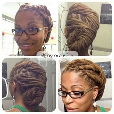 Easy updo for locs #facebook