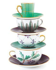 Art- food, music, fashion, tea: Marie Daage's Limoges dinnerware
