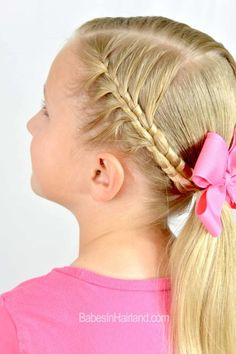 French Figure 8 Braid from BabesInHairland.com #braids #ponytail #hairstyle #hair