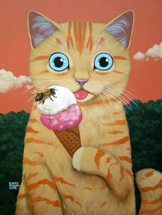 "Cary Chun Lee ""catart #catpaintings"
