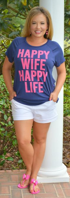 Happy Wife T-Shirt - Perfectly Priscilla Boutique
