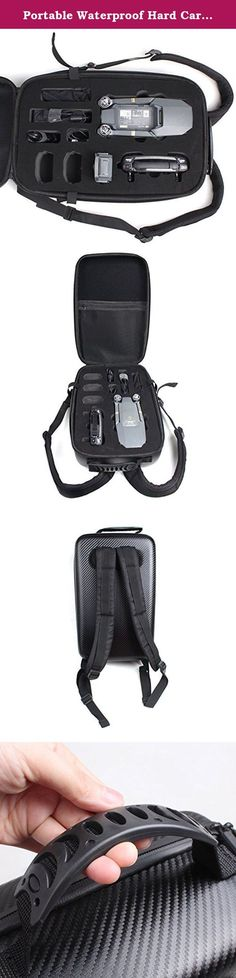 Portable Waterproof Hard Carrying Case Traveling Backpack for DJI Mavic. Compatible with DJI Mavic Pro Drone. These custom designed dividers have the option to be customized for the DJI Mavic Pro Quadcopter Drones and accessories. Storage for Controller, Drone and up to 3 batteries. Perfect Hard Carrying Case: small, light and carry-on sized backpack. Full Protection: featuring internal shock absorbent foam that dissipates force and keep your quadcopter safe. .