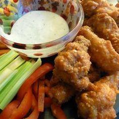 Alitas de pollo tipo Buffalo @ allrecipes.com.mx