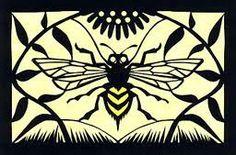 scherenschnitte bee