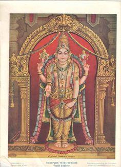 1933'S Vintage OLD South Indian Hindu GOD Thirupathi Venkatewarar Print RS EHS | eBay