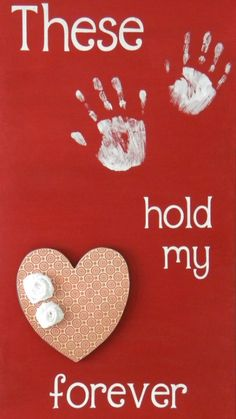 DIY Valentine Sign with Hand Prints ~ Sweet keepsake for Mommy and Daddy or grandparents from your toddler!!