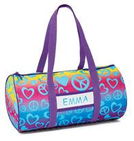 Personalized Rainbow Duffle- Colorful tote is perfect for summer getaways. Comes with sticker sheet and insert card for personalization. Regularly $14.99, buy Avon Kids online at http://eseagren.avonrepresentative.com