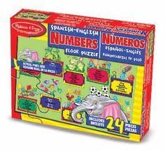 BAT: Bilingual Floor Puzzle - Numbers from Melissa & Doug $12.99