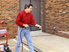 pressure washers used to clean variety of surfaces