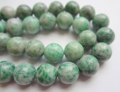 12mm Genuine Qinghai Jade Round Gemstone Beads - Half Strand, 16pcs