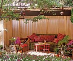 Corrugated plastic roof for shelter in outdoor spaces via BHG