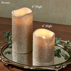 LED Flameless Glitter Candle with Timer