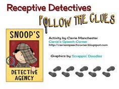 Carrie's Speech Corner: Receptive Detectives - TPT activity with FREEBIE