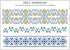 Semnele cusute - Un alfabet care vorbeste despre noi Embroidery Sampler, Folk Embroidery, Embroidery Patterns, Cross Stitch Patterns, Knitting Patterns, Bargello, Hama Beads, Beading Patterns, Romania