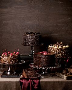Chocolate Seduction Cake - Neiman Marcus. This would be a cool dessert setup for a wedding.